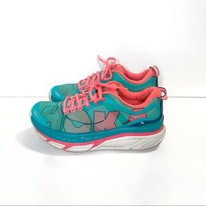 Hoka One One Womens Valor Sneakers Turquoise Coral